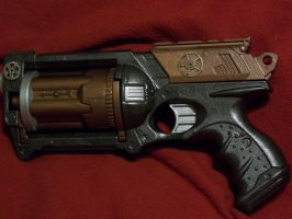Compressed Black Steam Pistol by Frost-Claw-Studios