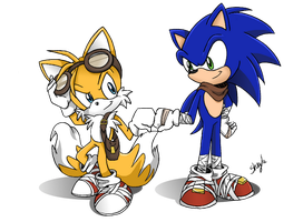 Sonic and Tails Boom by S-concept