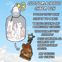 Custom acrylic charm OPEN by animaladopts4u