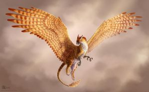 Golden gryphon by Azany