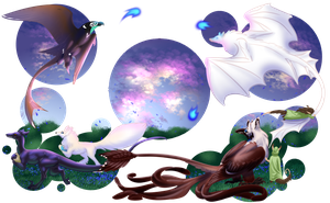 Wisps and Eggs by Shavahiivallah