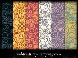 Urban Circles Grunge Patterns by WebTreatsETC