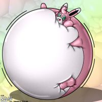 Wigglytuff puffed up by minnagowaseiryuu