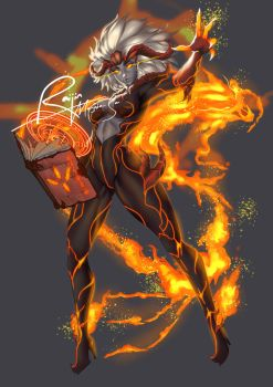 Halestorm-The Fire Mage by UzumakiAry