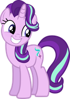 Starlight Glimmer (smiling vector) by davidsfire