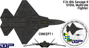 FA-81A Savage II VTOL fighter by AC710N87