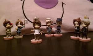 All my Hetalia Coin Figurines by AnimeWaterFall