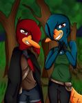 The two Platypuses by Pinkwolfly