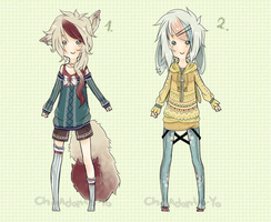 Adoptables  - Mini Auction 3# [CLOSED] by Chi-Adopts-Yo