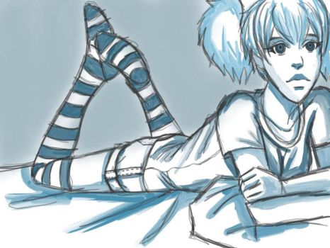 Tuesday night sketch relax by Exile-062