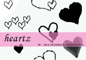 14th Set of Brushes-heartzPS by girlinabox
