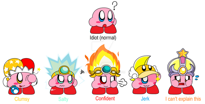 Kirby's Ugly Hats by The9Lord