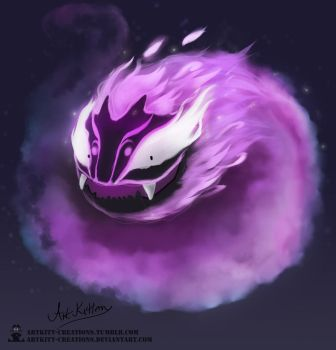 Kanto - Gastly by ArtKitt-Creations