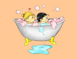 Bath Time by sasu-naru-fan105