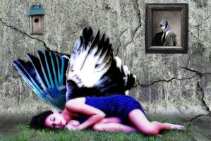The Blue Jay's Dream by LeeAnneKortus
