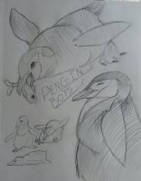 chinstrap penguin study by alleysquares