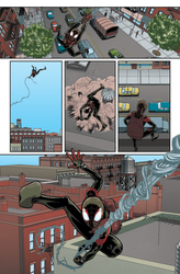 Ultimate Spider-Man Colour Sample 3 by giantboydetective