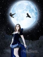 Night Witch of the Fields Under the Moon by RogerioGuimaraes