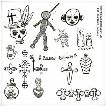 Voodoo symbols PS brushes by iCatchUrDream