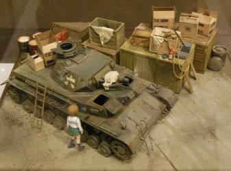 Miho Finds the Panzer IV by rlkitterman