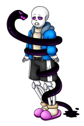Sans and the Void Serpent by Uketello
