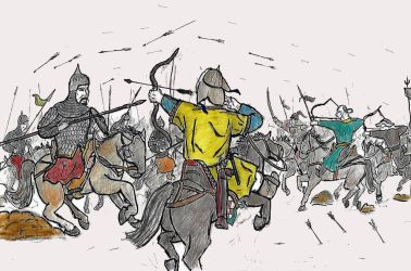 Mongols and Khwarezmians at Quyli, 1218/1219 by TheJackmeister