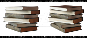 Stack Of Books Cut Out by ManicHysteriaStock