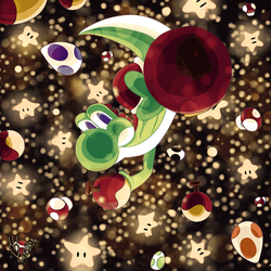 Yoshi In Space by Meara