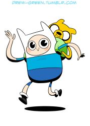 Finn and Jake Commission Example by DrewGreen
