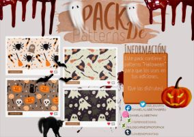 ~.Pack de Patterns #22 {Halloween} by ISirensDesigns