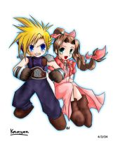 Cloud and Aerith by Ge-B