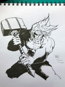 5th and last Inktober for 2017 Banhammer by RoloGL