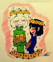 .picking golden flowers. by vocaloid121