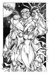 Thanos And Mistress Death By Pant Inked Small by gz12wk