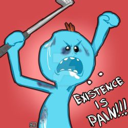 Existence is pain! by RenardDraws