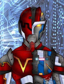 VR 1 (vr troopers, Metal heroes, metalder) by blueliberty