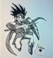 Dragon quest dude(inktober2017.day17) by lallibear