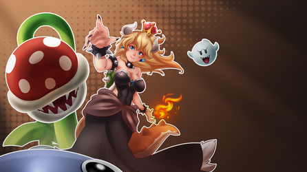 Bowsette  WALLPAPER - by Light262 by Light262