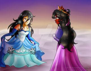 The Snow Princess and the Phoenix Princess by LilacPhoenix