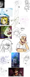 Sketch Dump 5 (pretty big, might be risky art lol) by bobcoolster