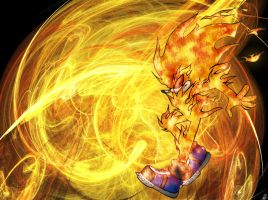 Torch The Burning Hedgehog by Psychograve