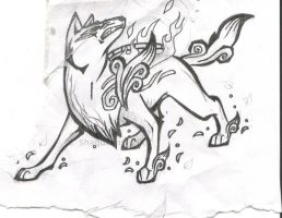 Amaterasu Growling by ShaQueeny