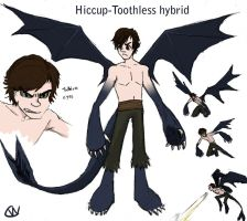 Hiccup Toothless hybrid by otakufox23
