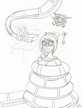 Kaa and Mei Sketch by lol20