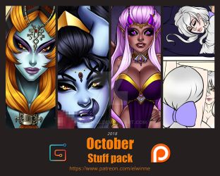 Patreon Stuff pack October 2018 - Gumroad by elwinne