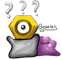 Pokemon Best blobs- Ditto and Meltan by Glitched-Irken