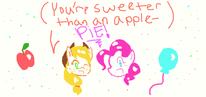 You're sweeter than an apple pie! by nobodygirlxy