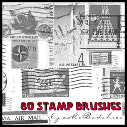 Vintage Stamps by mcbadshoes