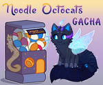 [OPEN] Gacha machine - Noodle Octocats by KetLike