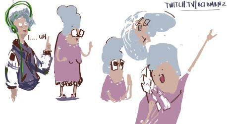 Old Lady Doodle by octomanz